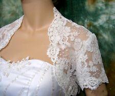 BOLERO DE MARIAGE, Taille S, BLANC, EN TULLE, DENTELLE & BRODERIES