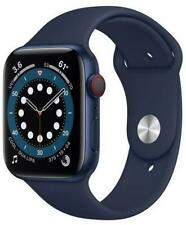 Apple Watch Series 6 GPS 44mm Case Aluminium Blue, Band Sport Deep Navy, Smart Watch (M00J3B/A)