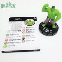 Heroclix Avengers: Black Panther & Illuminati set Hulk #014 Common figure w/card