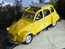 JAMES BOND CITROEN 2CV FOR YOUR EYES ONLY 1/43 SIZE CAR YELLOW EXAMPLE T3412Z(=)