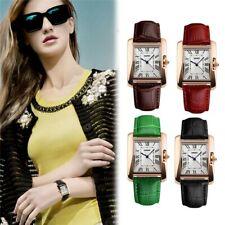 SKMEI Retro Waterproof Women's Wristwatches Roman Square Leather Strap Watch