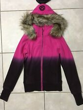 EUC LULULEMON 4 pink gray dip dye SPECIAL EDITION SCUBA HOODIE sweatshirt fur