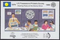 Palau Block 4 **, Briefmarken Ausstellung 1988, postfrisch, MNH