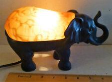 VTG CHEYENNE ELEPHANT ART GLASS AMBER LAMP ACCENT TABLE LAMP NIGHT LIGHT LUCK