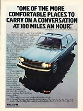 1974 Volvo 142 100mph Original Advertisement Print Art Car Ad J819