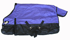 600D Medium Weight Winter Horse Pony Blanket Rip Stop Water Proof Purple Size 50