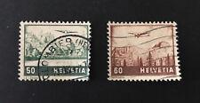 Suisse / Schweiz : Zumstein Poste aérienne n° 29 - 31 - 1941 oblitéré