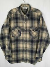 "Woolrich Wool Shirt Mens XL Gray Blue Plaid Multi CHEST 46"" Vintage L/S NICE!"