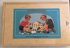 Wooden Building Block Set Noblesse Create A House Germany 62 Pieces( Never Used)