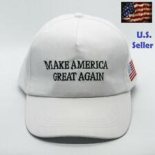 President Donald Trump Make America Great Again US Hat Adjustable Cap White Flag