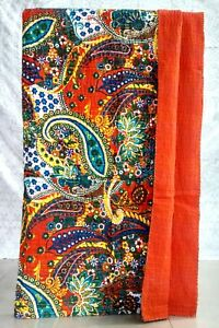 New Vintage Kantha -Indian- Handmade Twin Blanket-Quilt Throw Bed Cover