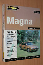 Gregorys Owners Service Workshop Repair Manual Mitsubishi Magna TN 1987-1989 HC