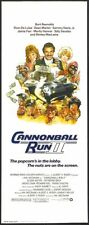 CANNONBALL RUN II - 1984 -orig 14x36 movie poster BURT REYNOLDS, JACKIE CHAN