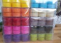 Viele Farben Pastelltöne RAL Qualität Brennen 4Std Teelichter Transparente Hülle