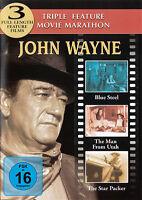 DVD John Wayne Triple Feature Película Marathon: Blue Steel, The Man From Uth