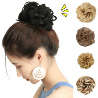 EB_ FP- 10cm Women Hair Bun Extension Wavy Curly Messy Donut Chignons Hairpiece