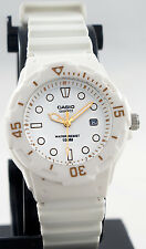 Casio LRW200H-7E2V Ladies Analog Watch White 100m WR Anti-Reverse Bezel Date New