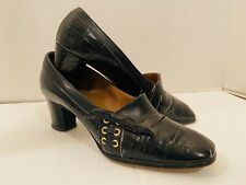 True Vintage Women's 8 Faux Alligator Dress Shoes Rockabilly Pinup Johansen
