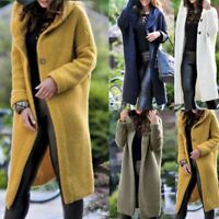 NEW Women's Baggy Cardigan Coat Tops Ladies Chunky Knitted Sweater Jumper Hood