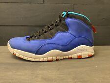 """Nike Mens Jordan 10 Retro Basketball Shoes Blue """"Tinker"""" 310805-408 8.5 M"""