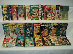 Bugs Bunny LOT 26 Books Christmas, Halloween, Vacation Dell Gold Key Comic 10787
