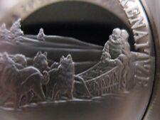 7/8-OZ.KENAITZE ALASKA NATIVE INDIAN TRIBAL NATIONS ART COIN SILVER.999+GOLD