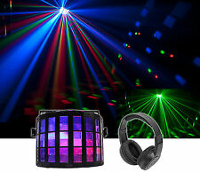 Chauvet DJ Mini Kinta IRC DMX RGBW Derby Club Stage Effect Beam Light+Headphones