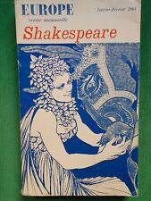 WILLIAM SHAKESPEARE REVUE EUROPE NO 417 417 JAN FEV 1964 THEATRE