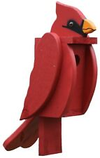 The Woodpecker Family Amish Handcrafted Birdhouse (Cardinal)