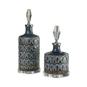Uttermost Varuna Cobalt Blue Bottles Set of 2 - 18886
