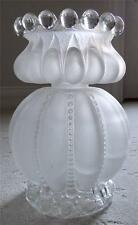 Beautiful Antique French Satin Glass Oil Lamp Large & Heavy