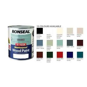 Ronseal 10 Year Weatherproof Wood Paint 750ml Satin-Gloss   No Primer Nee   2in1