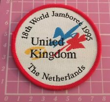 18th World Jamboree 1995 Badge. UK Contingent. Scouts. Netherlands. Scout Guides