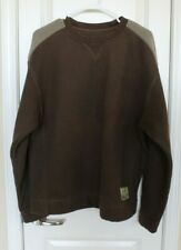 Mens Cabelas Brown Pullover Sweater Fleece Fishing Hunting Sz L Large