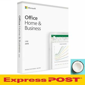 Microsoft Office Home and Business 2019 [Sealed] Retail Pack 1 PC