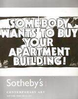 Sotheby's NO8294 Contemporary Art Auction Catalog 2007