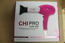 CHi Pro Low Emf Hair Dryer - Color: Hot Pink Metallic - Brand new