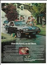 1976 Black Buick Skyhawk Automobile Print Ad ~ First Skyhawk on the Block.