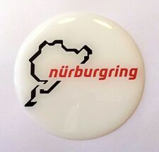 Nurburgring White/Red Sticker/Decal - 72mm HIGH GLOSS DOMED GEL FINISH