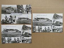 3x Vintage c1950s Gibraltar Multi View Real Photo Postcards