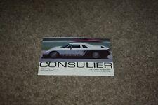 Consulier Industries car postcard w/ specs