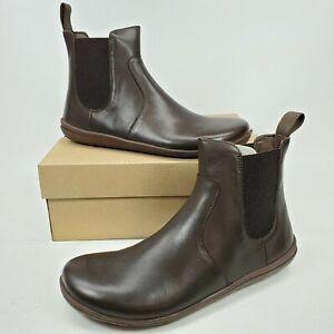Vivobarefoot Fulham Chelsea Dark Brown Boot Womens Size 39 US 8 Barefoot Comfort
