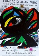 Fundacio Joan Miro Offsett Lithograph Poster 1975 Lim Ed. 2000 pieces Barcelona