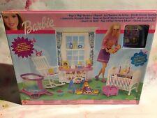 Barbie Vintage Nap n' Play Nursery Playset 2001 Mattel, Retired New