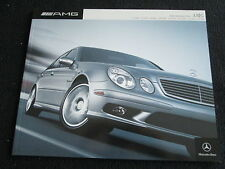 2004 Mercedes Benz AMG Sales Brochure S55 SLK32 SL55 G55 C55 E55 US Catalog