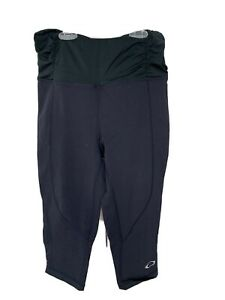 Oakley Maternity Black Capri Leggings Size XS GUC