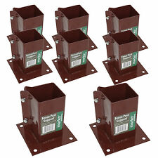 """8 x Bolt Down Bolt Fence Post Support Holder Anchor Like Metpost  3"""" - 75MM NEW"""