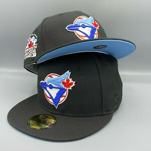 Toronto Blue Jays 1991 All Star Game New Era 59FIFTY Black Hat Sky Blue Bottom