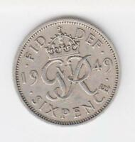 Sixpence Geo Vl 1937/51 your choice of dates multiple listing from 99p each