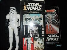 "$ VTG~1977~1978~Star~Wars~12""~LARGE~STORMTROOPER~Doll~action~figure~box~weapons~"